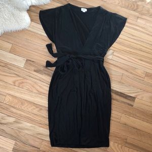 Wilfred LBD Wrap Dress with pockets